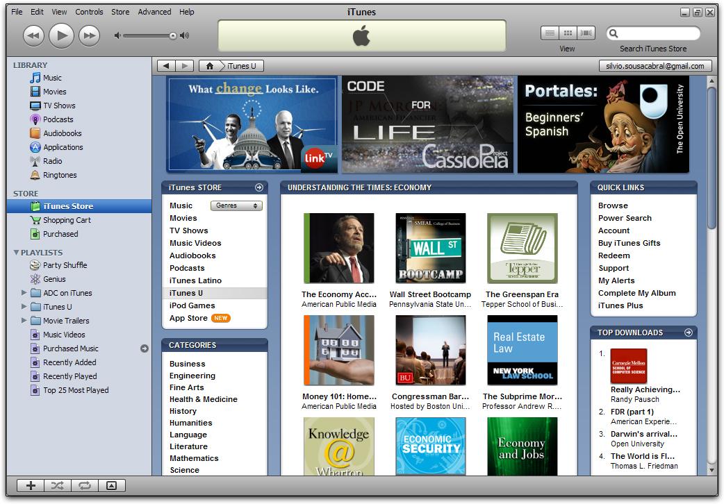 iTunes U: clique para ampliar