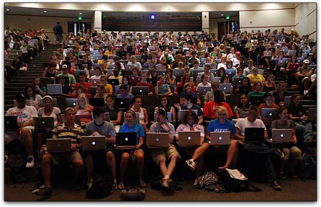 Auditório da Missouri School of Journalism: quanto Mac, hein?