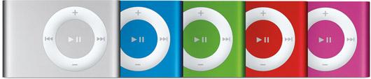 Novos iPods shuffle
