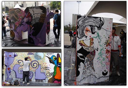O live painting rolou nos dois dias do evento.
