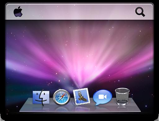 Ícone do Desktop na barra lateral do Finder