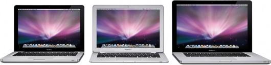 Nova família de MacBooks