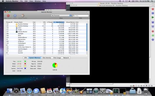 Activity Monitor mostra a barreira de 4GB. Fonte: iFixit