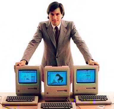 Steve e o Macintosh, substituto de outro computador...