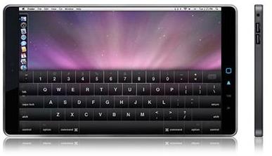 Mockup de netbook da Apple