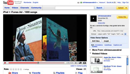 YouTube em HD 720p