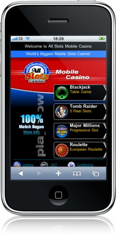 All Slots Mobile Casino no iPhone
