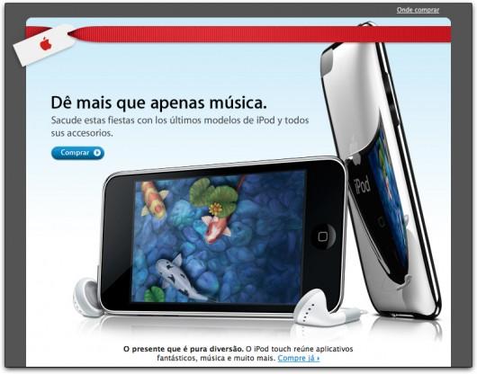 Newsletter da Apple Brasil