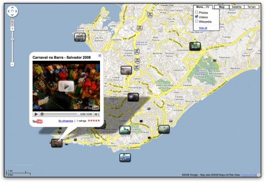 Vídeos no Google Maps