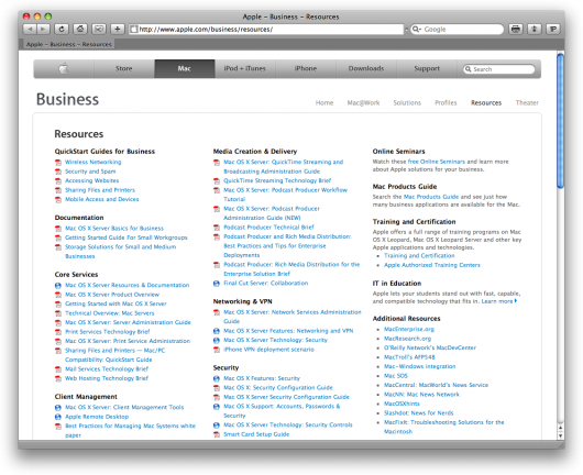 Apple - Business - Resources