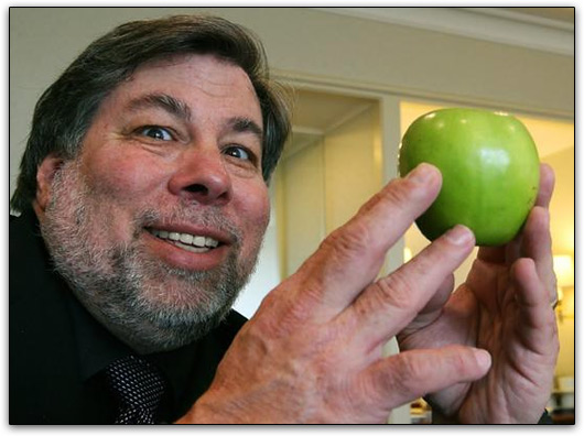 Steve Wozniak e uma maçã