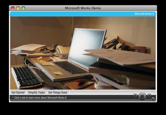Mac é Pop Microsoft Works 9