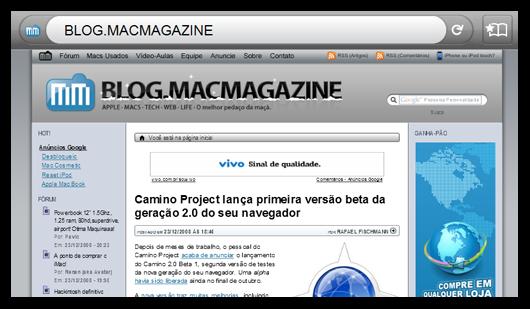 MacMagazine no Firefox Mobile