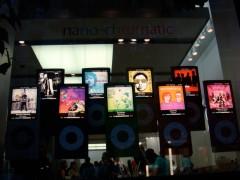 Vitrine decorada com iPod nano 4ª geração