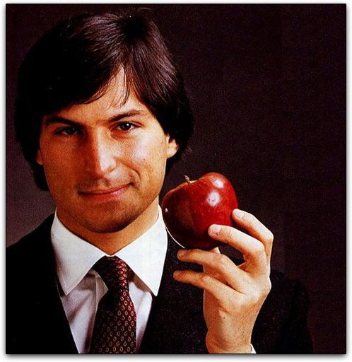 Steve Jobs e uma maçã