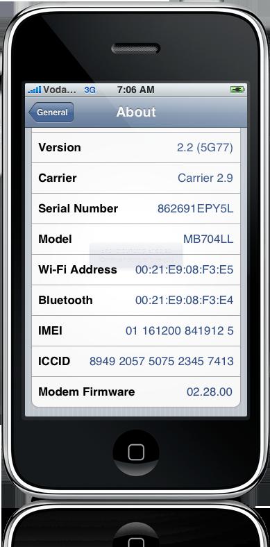Unlock do iPhone OS 2.2
