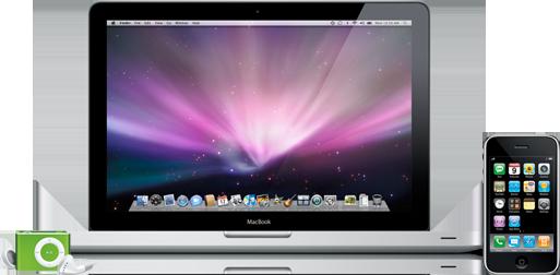 iPod shuffle, MacBook e iPhone