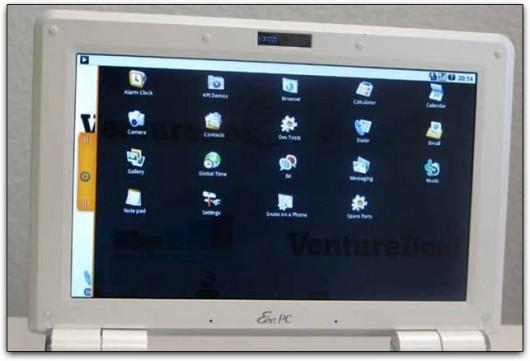 Android num Eee PC da ASUS