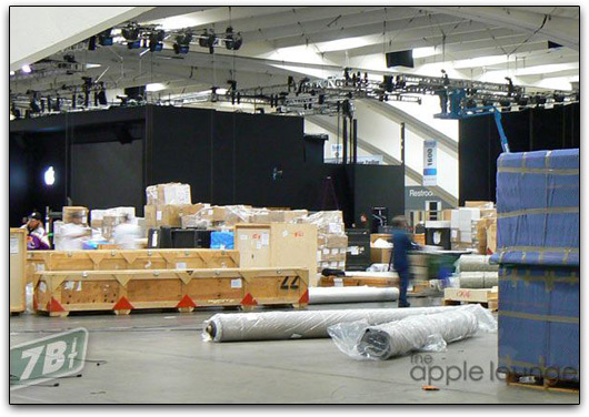 Moscone Center se preparando para a Macworld 2009