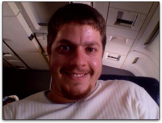 Eu no avião
