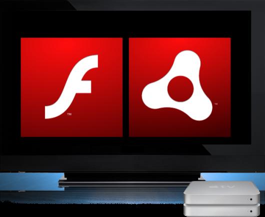 Apple TV com Flash e AIR?