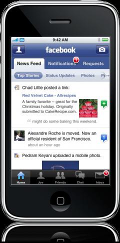 Facebook 2.1 para iPhone