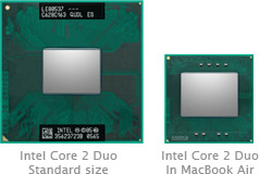 Intel Core 2 Duo no MacBook Air