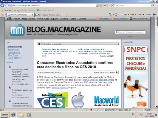 MacMagazine no beta do Windows 7
