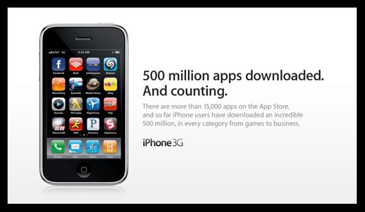 App Store: 500 milhões de downloads