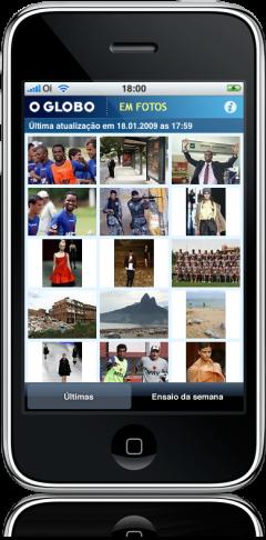 O GLOBO EM FOTOS no iPhone