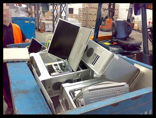 Macs em depósito para serem destruídos