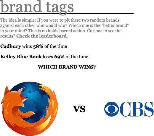 Brand Tags - Firefox e CBS