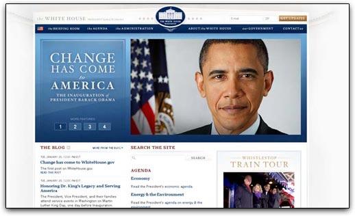 WhiteHouse.gov, versão Obama