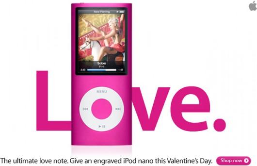iPod nano rosa LOVE
