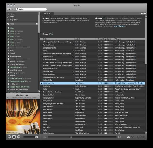 Spotify no Mac