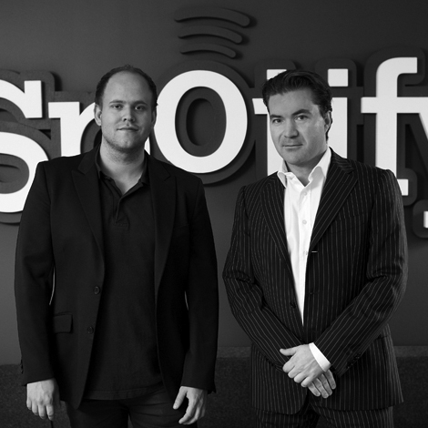 Fundadores do Spotify: Daniel Ek e Martin Lorentzon