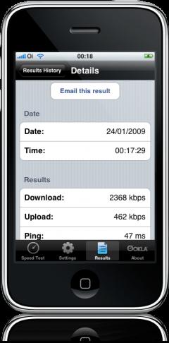 Speedtest.net no iPhone