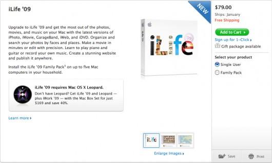 iLife '09 despachado