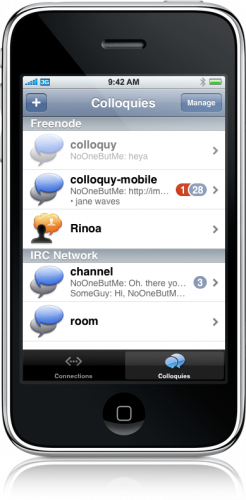 Mobile Colloquy no iPhone