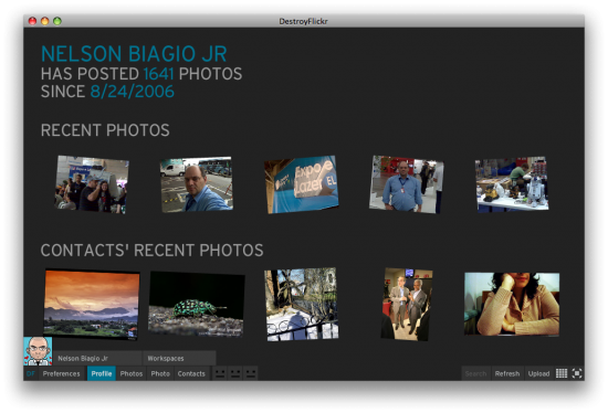 A página inicial do Flickr, via DestroyFlickr