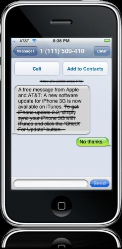 Atualização de iPhone, não obrigado