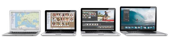 Família de MacBooks