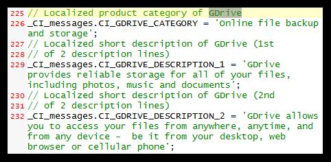 Informações oficiais sobre o GDrive