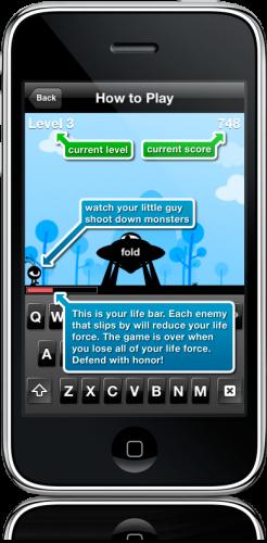 Monster Typer no iPhone