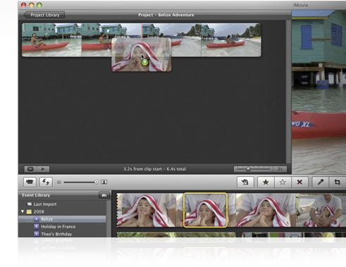 Nova função drag-and-drop do iMovie '09