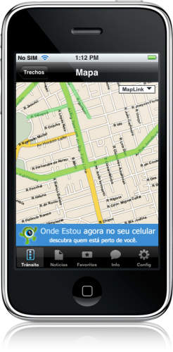 Apontador Trânsito 1.1 no iPhone