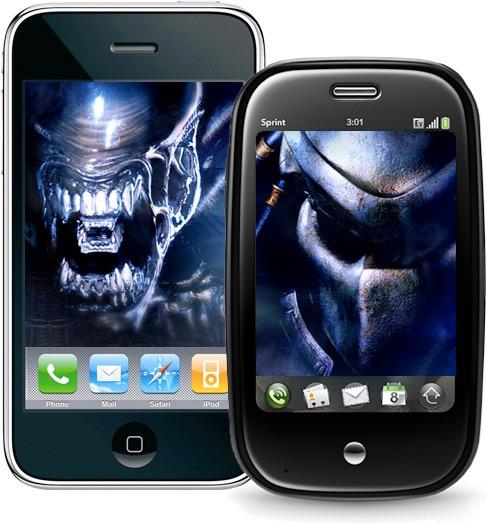 iPhone e Palm Pre - Alien-style