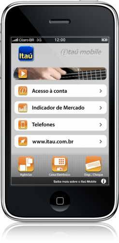 Itaú Mobile no iPhone