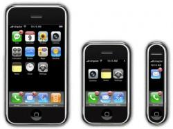 Linha de iPhone com nano e shuffle