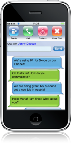 IM+ for Skype no iPhone
